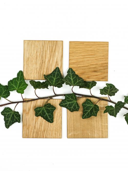 WoodHock Drunter und Drüber Holzuntersetzer Eiche