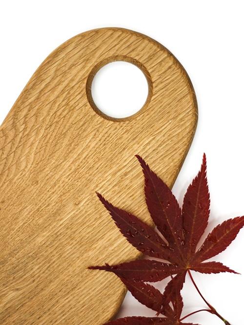 WoodHock Dublin Servierbrett Holzbrett Eiche massiv Anrichtebrett Schneidbrett nachhaltig Holz Handarbeit