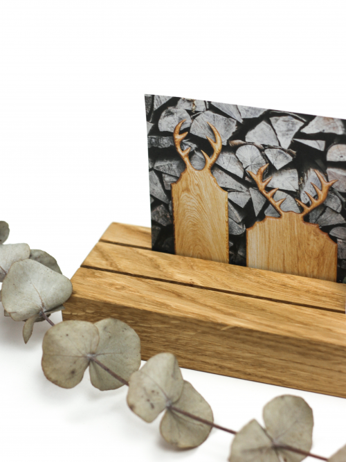 WoodHock Klaem Postkartenhalter Holz