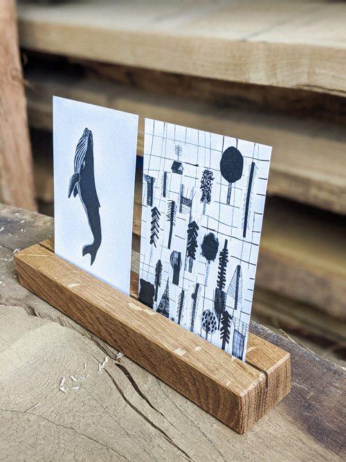 WoodHock Postkartenhalter Klaem Eiche Massiv