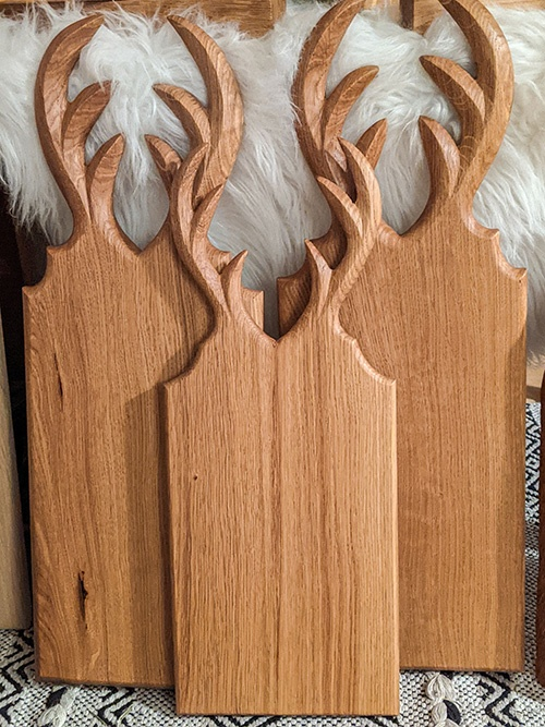 WoodHock Servierbretter eiche massic schwarzwald handgefertigt