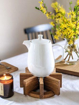 WoodHock Stövchen Eiche Teelichtwärmer Teewärmer