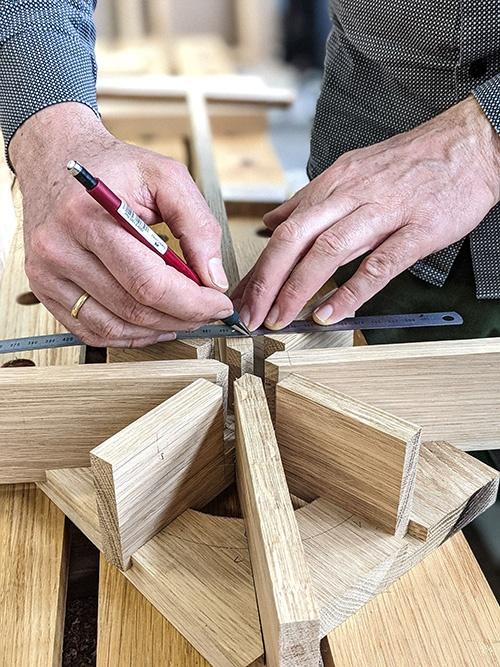 WoodHock handgefertigtes Stövchen Teewärmer massiv Eiche
