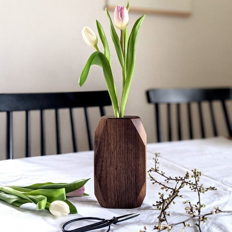 WoodHock Vase Holzvase Wiesenglück Accessoires