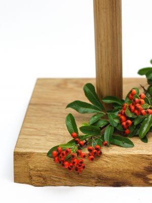 WoodHock Küchenrollenhalter Gründlich Holz Naturkante Eiche